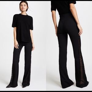 Black boot cut Alice and Olivia - lace up side leg